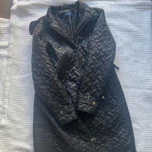 Black Quilted Cole Haan Coat
